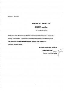 referencje_Maciejowka 2012- podziekowanie AVIATOUR01